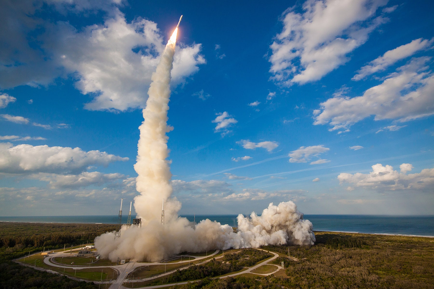 March 1, 2018-GOES-S successful liftoff of the nation's newest weather satellite aboard a ULA Atlas V rocket. Marks the 100th AR AJ-60A solid rocket booster (SRB).