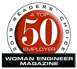 We were voted a Top 50 Employer by Woman Engineer Magazine