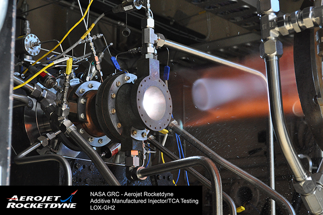Aerojet rocketdyne successfully tests thrust chamber for Nasa additive manufacturing