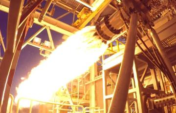 Feb. 22, 2017 - Staged-combustion testing at NASA's Stennis Space Center in Mississippi for the AR1 program is being developed by Aerojet Rocketdyne