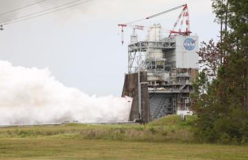 July 25, 2017 - Aerojet Rocketdyne tests the third RS-25 flight controller on a developmental engine at NASA's Stennis Space Center.