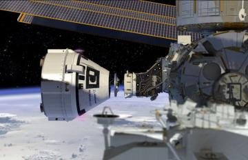 Mar. 15, 2018 - Boeing's CST-100 Starliner conducts a docking approach to the International Space Station