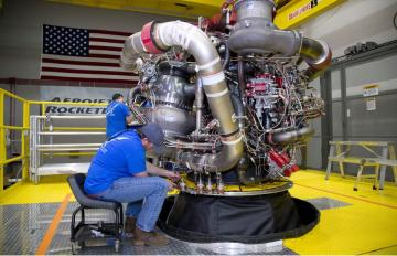 June 4, 2018 - Aerojet Rocketdyne technicians complete final assembly on the first AR-22 rocket engine, This new Boeing spaceplane, called Phantom Express, is intended to demonstrate a new paradigm for more routine, responsive and affordable space access.