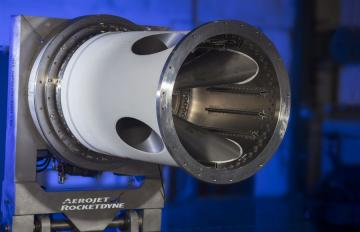 July 9, 2018 - The Jettison Motor built by Aerojet Rocketdyne for the Lockheed Martin-built Orion spacecraft's Launch Abort System (LAS) that will be tested during the Ascent Abort Test (AA-2) next year.