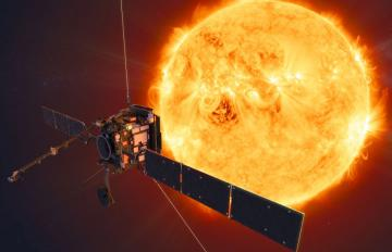 The Solar Orbiter mission will face the Sun from within the orbit of Mercury at its closest approach. Credit: ESA/ATG medialab