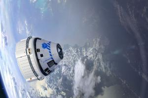 An artist's illustration of Boeing's CST-100 Starliner spacecraft in orbit. Credits: Boeing