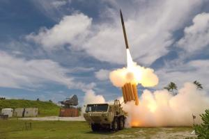 A THAAD interceptor is launched from the Reagan Test Site, Kwajalein Atoll in the Republic of the Marshall Islands, during Flight Test THAAD-23, Aug. 30, 2019. Credit: MDA