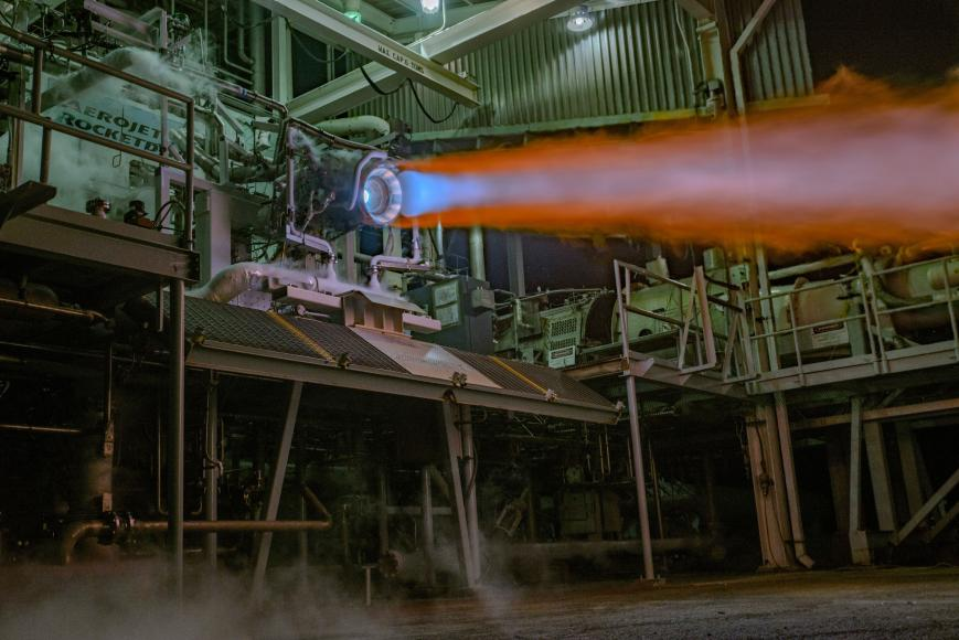 Oct. 17, 2014 - NASA and Aerojet Rocketdyne successfully hot-fire tests an advanced additive manufactured rocket engine: Injector/Thrust Chamber Assembly.